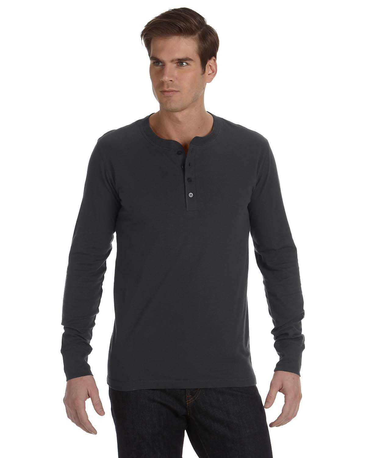 Men's Longtail T Long Sleeve Henley shirt is 3