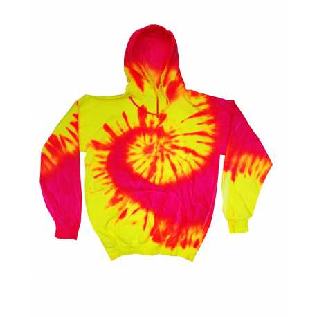 Tie-Dye CD8700Y Youth Fluorescent Tie-Dyed Pullover Hoodie