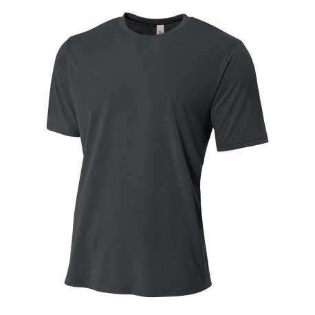A4 NB3264 Youth Shorts Sleeve Spun Poly T-Shirt