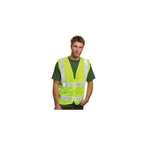 Bayside BA3785 Mesh Safety Vest - Lime