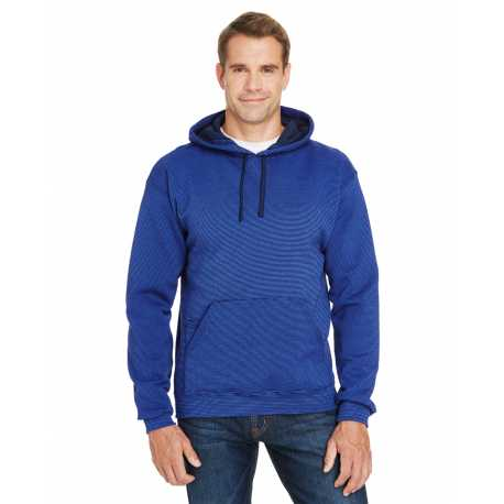 Fruit Of The Loom SF77R Adult 7.2 oz. Sofspun Striped Hooded Sweatshirt