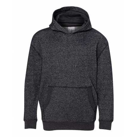 J America JA8606 Youth Glitter French Terry Pullover Hood