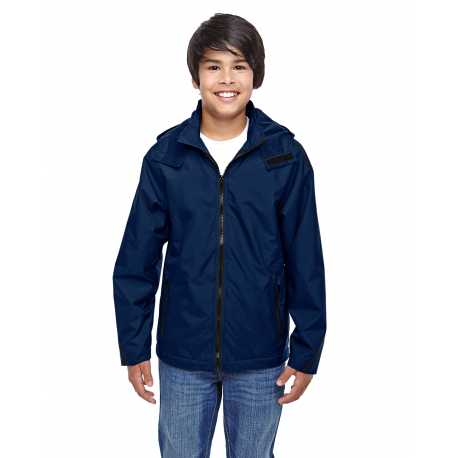 Team 365 TT72Y Youth Conquest Jacket with Fleece Lining