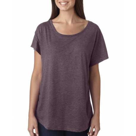 Alo W1105 Ladies' Performance Triblend Short-Sleeve V-Neck T-Shirt