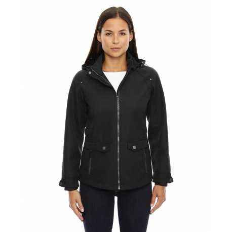 North End Sport Blue 78672 Ladies' Uptown Three-Layer Light Bonded City Textured Soft Shell Jacket
