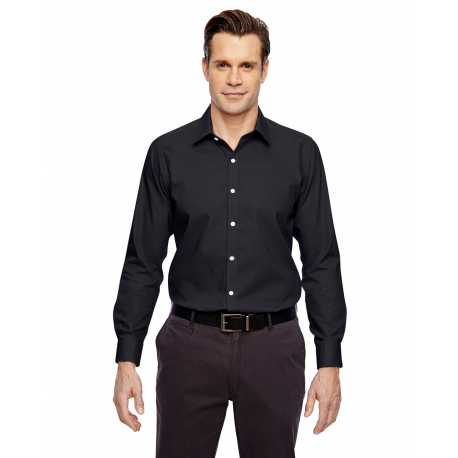 North End Sport Blue 88690 Men's Precise Wrinkle-Free Two-Ply 80's Cotton Dobby Taped Shirt