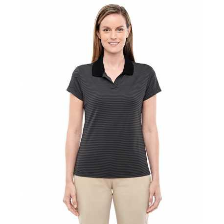 Adidas Golf A120 Ladies' climalite Classic Stripe Short-Sleeve Polo