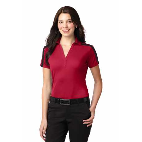 North End Sport Red 78667 Ladies Accelerate UTK cool.logik Performance Polo
