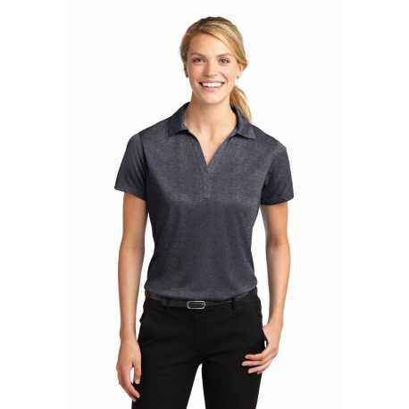 North End Sport Blue 78674 Ladies Boardwalk Wrinkle-Free Two-Ply 80s Cotton Striped Tape Shirt