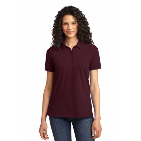 North End Sport Blue 78688 Ladies Iconic Wrinkle-Free Two-Ply 80s Cotton Checkered Dobby Twill Taped Shirt