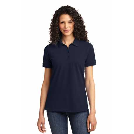 North End Sport Blue 78689 Ladies Refine Wrinkle-Free Two-Ply 80s Cotton Royal Oxford Dobby Taped Shirt