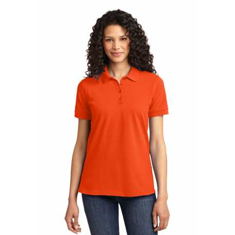 North End Sport Blue 78690 Ladies Precise Wrinkle-Free Two-Ply 80s Cotton Dobby Taped Shirt