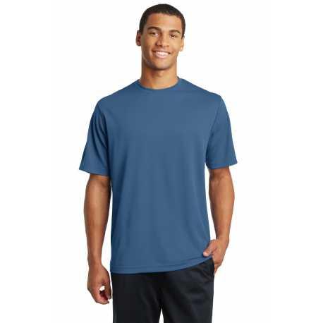 North End Sport Blue 88802 Mens Melange Performance Shirt
