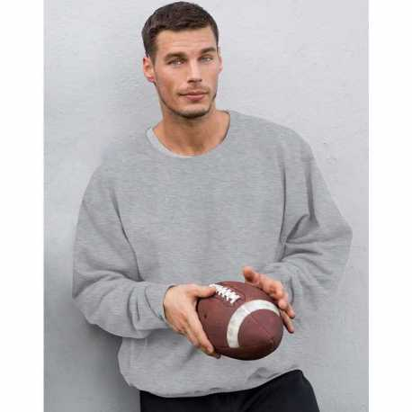 UltraClub 8237 Adult Two-Tone Keyhole Mesh Quarter-Zip Pullover
