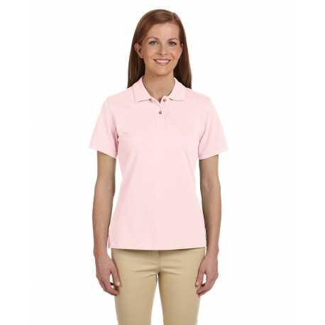Harriton M200W Ladies' 6 oz. Ringspun Cotton Pique Short-Sleeve Polo