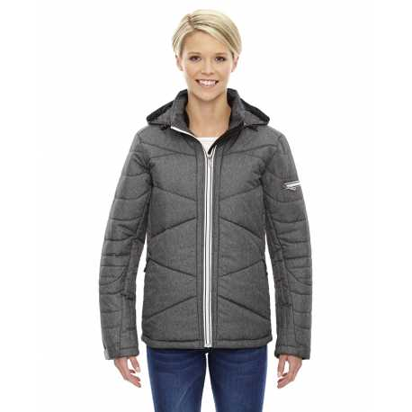 North End Sport Blue 78698 Ladies' Avant Tech Melange Insulated Jacket with Heat Reflect Technology