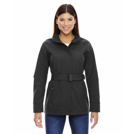 North End Sport Blue 78801 Ladies' Skyscape Three-Layer Textured Two-Tone Soft Shell Jacket