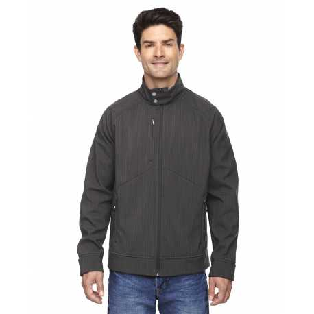 North End Sport Blue 88801 Men's Skyscape Three-Layer Textured Two-Tone Soft Shell Jacket