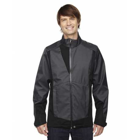 North End Sport Blue 88686 Men's Commute Three-Layer Light Bonded Two-Tone Soft Shell Jacket with Heat Reflect Technology