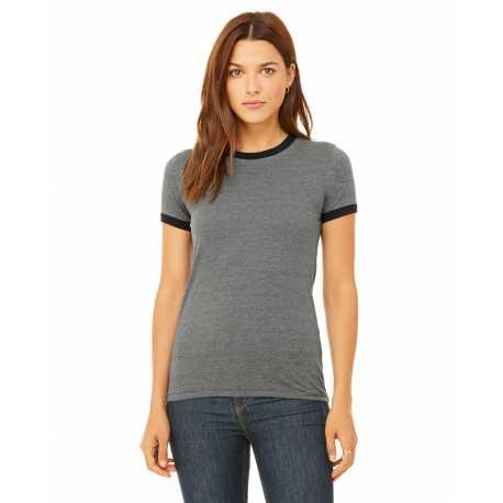 Bella + Canvas B6050 Ladies' Jersey Short-Sleeve Ringer T-Shirt