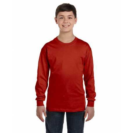 Hanes 5546 Youth 6.1 oz. Tagless ComfortSoft Long-Sleeve T-Shirt