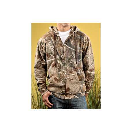 Code Five 3989 Adult REALTREE Camo Zip Fleece Hoodie
