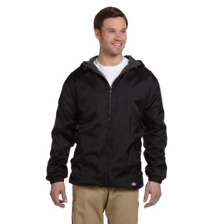 Dickies 33237 Men's Fleece-Lined Hooded Nylon Jacket