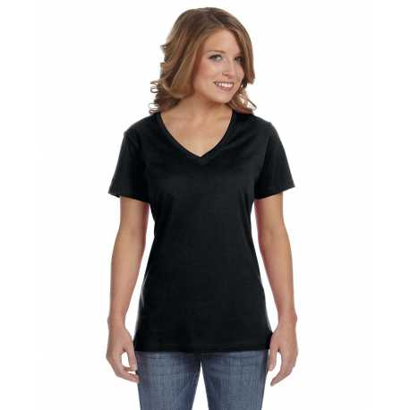 Anvil 392A Ladies' Ringspun Featherweight V-Neck T-Shirt