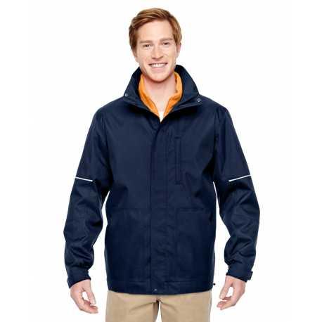 Harriton M772 Adult Contract 3-in-1 Jacket with Daytime Hi-Vis Fleece Vest