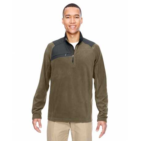 North End 88217 Adult Excursion Trail Fabric-Block Fleece Quarter-Zip