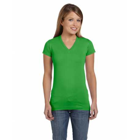 LAT 3607 Ladies' Junior Fit V-Neck Fine Jersey T-Shirt