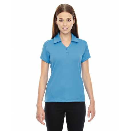 North End Sport Red 78803 Ladies' Exhilarate Coffee Charcoal Performance Polo with Back Pocket
