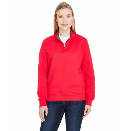 Fruit Of The Loom LSF95R Ladies 7.2 oz. Sofspun Ladies Quarter - Zip Sweatshirt