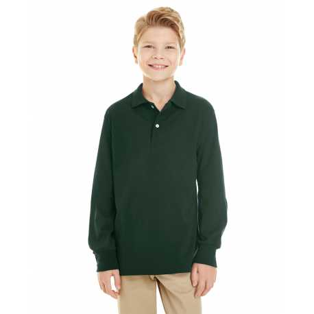 Jerzees 437YL Youth 5.6 oz. SpotShield Long Sleeve Jersey Polo