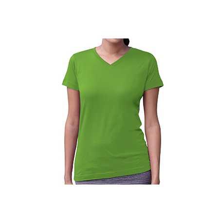 LAT 3507 Ladies' V-Neck Fine Jersey T-Shirt