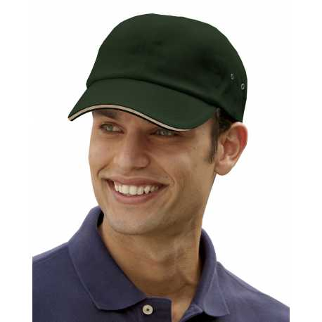Adams CT102 6-Panel Low-Profile Ultra Heavyweight Brushed Twill Sandwich Cap
