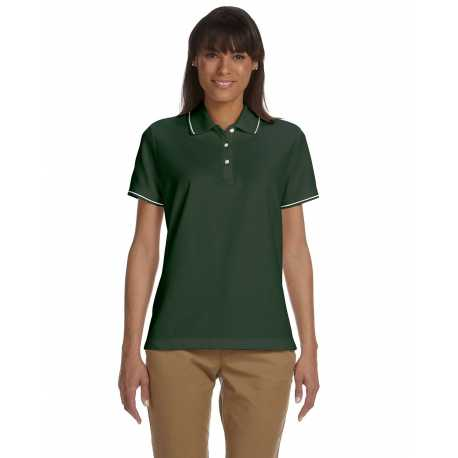 Devon & Jones D113W Ladies' Pima Pique Short-Sleeve Tipped Polo