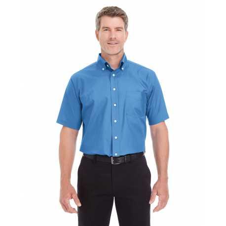 Devon & Jones D620S Men's Crown Collection Solid Broadcloth Short-Sleeve Shirt