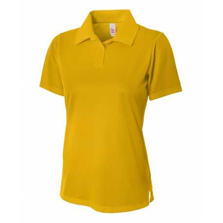 A4 NW3265 Ladies' Textured Polo Shirt w/ Johnny Collar