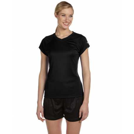 Champion CW23 Ladies' 4.1 oz. Double Dry V-Neck T-Shirt