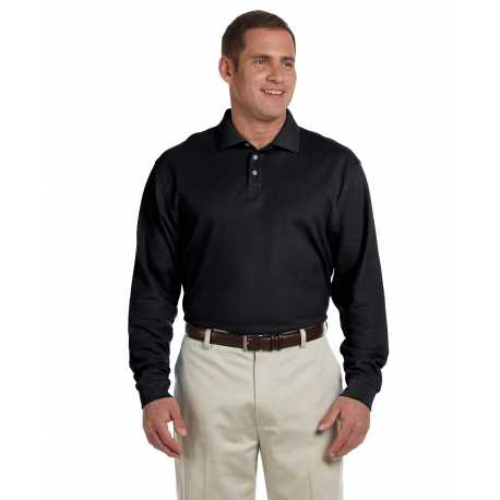 Devon & Jones D110 Men's Pima Pique Long-Sleeve Polo