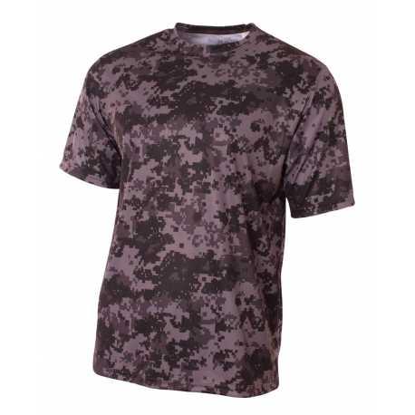 A4 N3256 Men's Camo Performance Crew T-Shirt