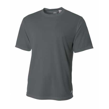 A4 N3252 Men's Shorts Sleeve Crew Birds Eye Mesh T-Shirt
