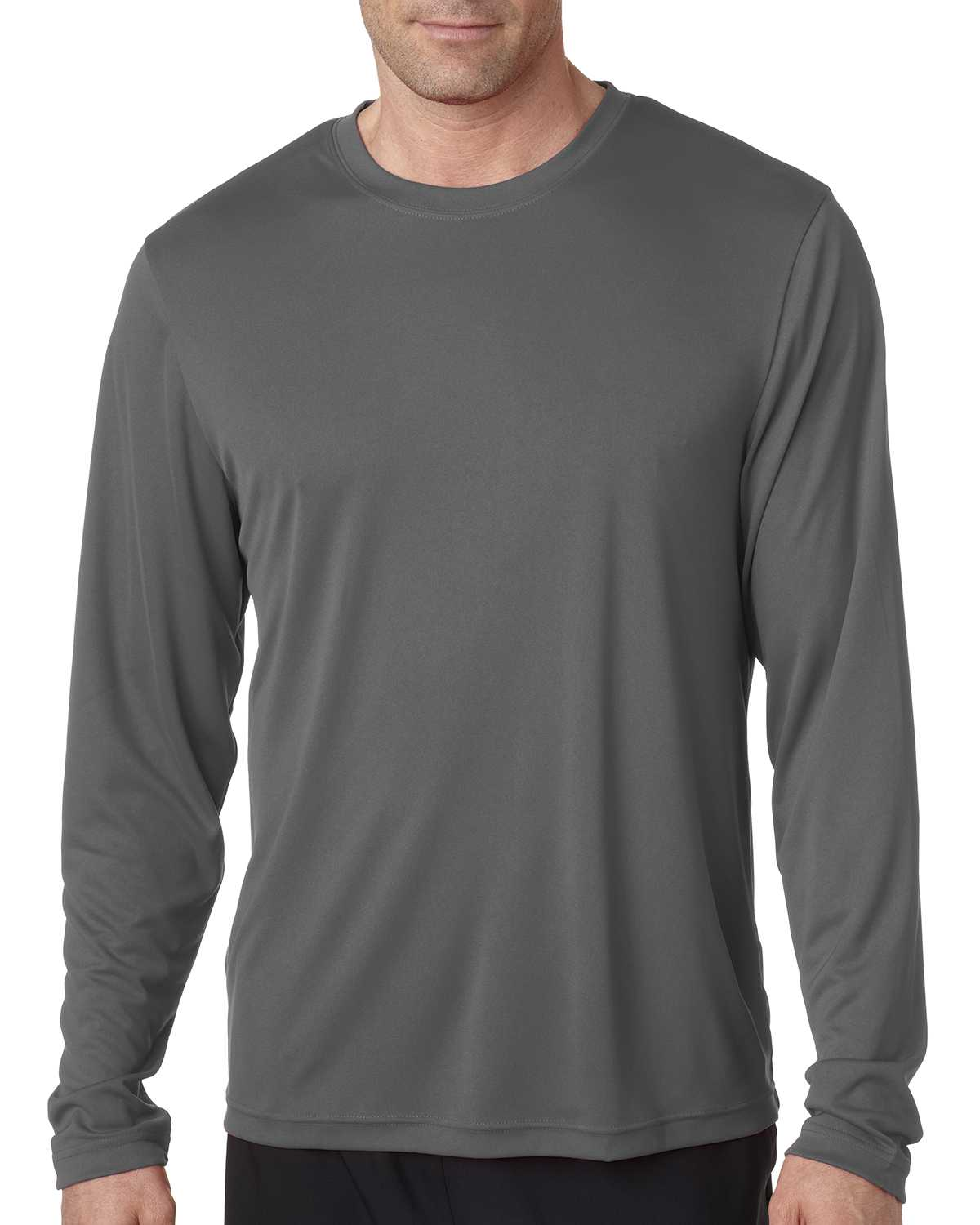 Hanes 482L Men's Cool DRI with FreshIQ Long Sleeve ...