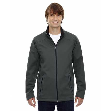 North End Sport Red 88655 Men's Splice Three-Layer Light Bonded Soft Shell Jacket with Laser Welding