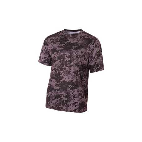 A4 NB3256 Youth Camo Performance Crew T-Shirt