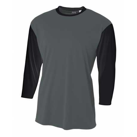A4 N3294 Men's 3/4 Sleeve Utility Shirt