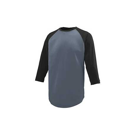 Augusta Sportswear 1506 Youth Wicking Polyester 3/4 Raglan Sleeve T-Shirt