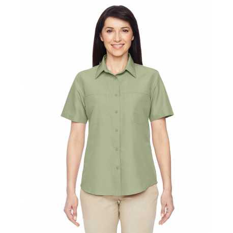 Harriton M580W Ladies' Key West Short-Sleeve Performance Staff Shirt