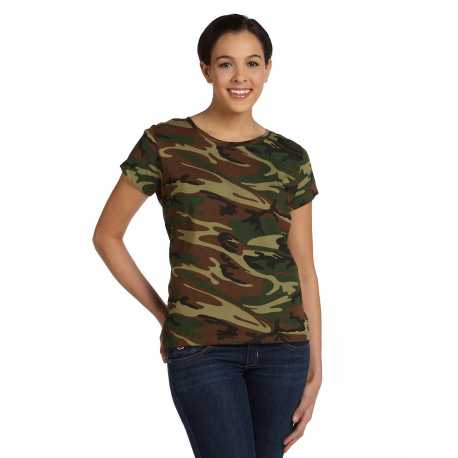 Code Five 3665 Ladies' Camouflage T-Shirt